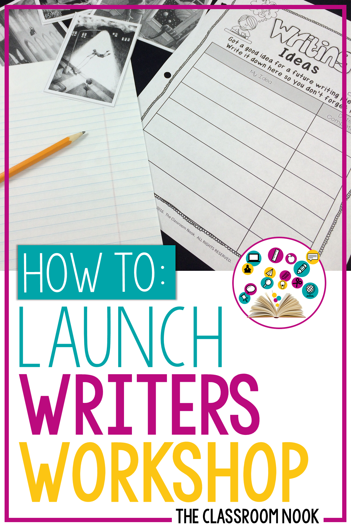 Not sure exactly how to get your writers workshop set up in your elementary classroom? This post walks you step-by-step on how to get started with implementing the workshop model with your students during your writing block. From what to teach in your writing mini-lessons to what to do during independent writing conferences and more! #writersworkshop #writing #backtoschool