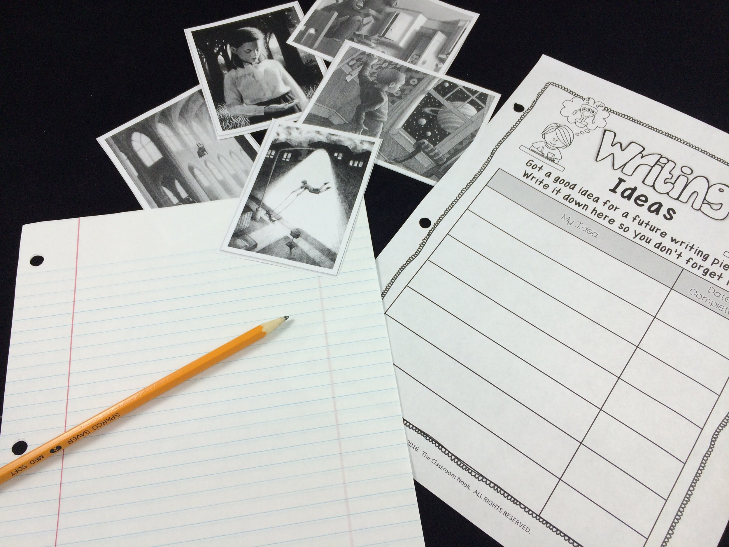 Students can keep track of their writing ideas inside their writers notebook. When they are ready to start a new writing piece, they can refer to their ideas list.