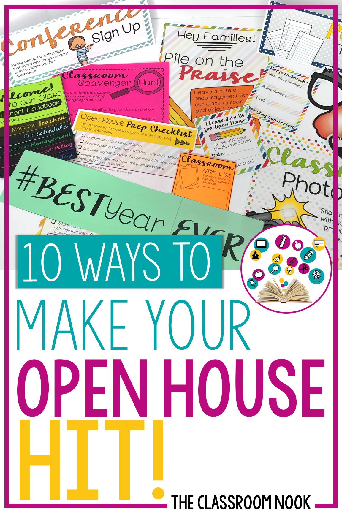 Looking for some great back to school ideas for parent's night or open house this year! Try one of these 10 ways to make your open house a hit! #openhouse #backtoschool #parentsnight
