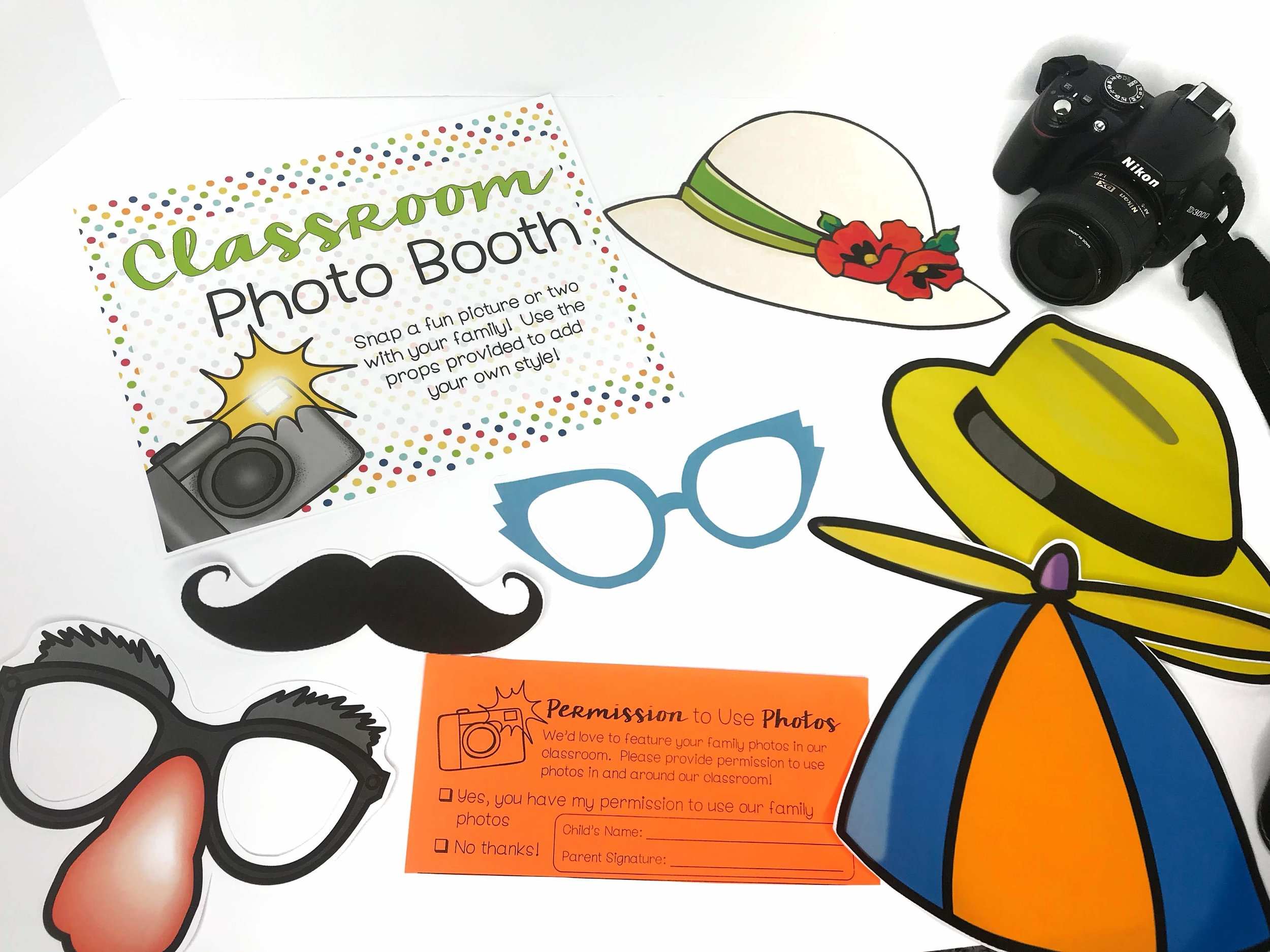 An open house photo booth is a perfect fun activities for your students and their families!