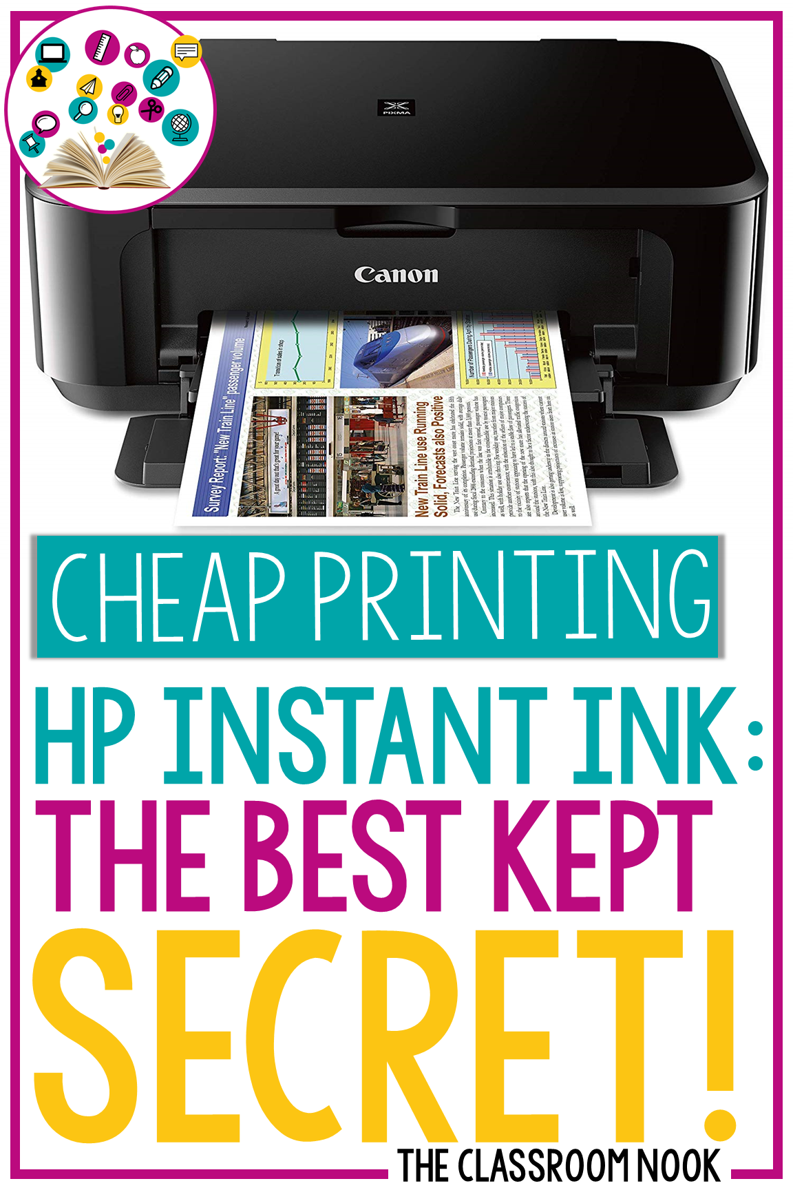 Printing resources in color is a great way to make your classroom materials stand out. However, printing in color can be expensive - unless you use the HP Instant Ink program that allows you to print page after page for less! #classroomresources #hpinstantink