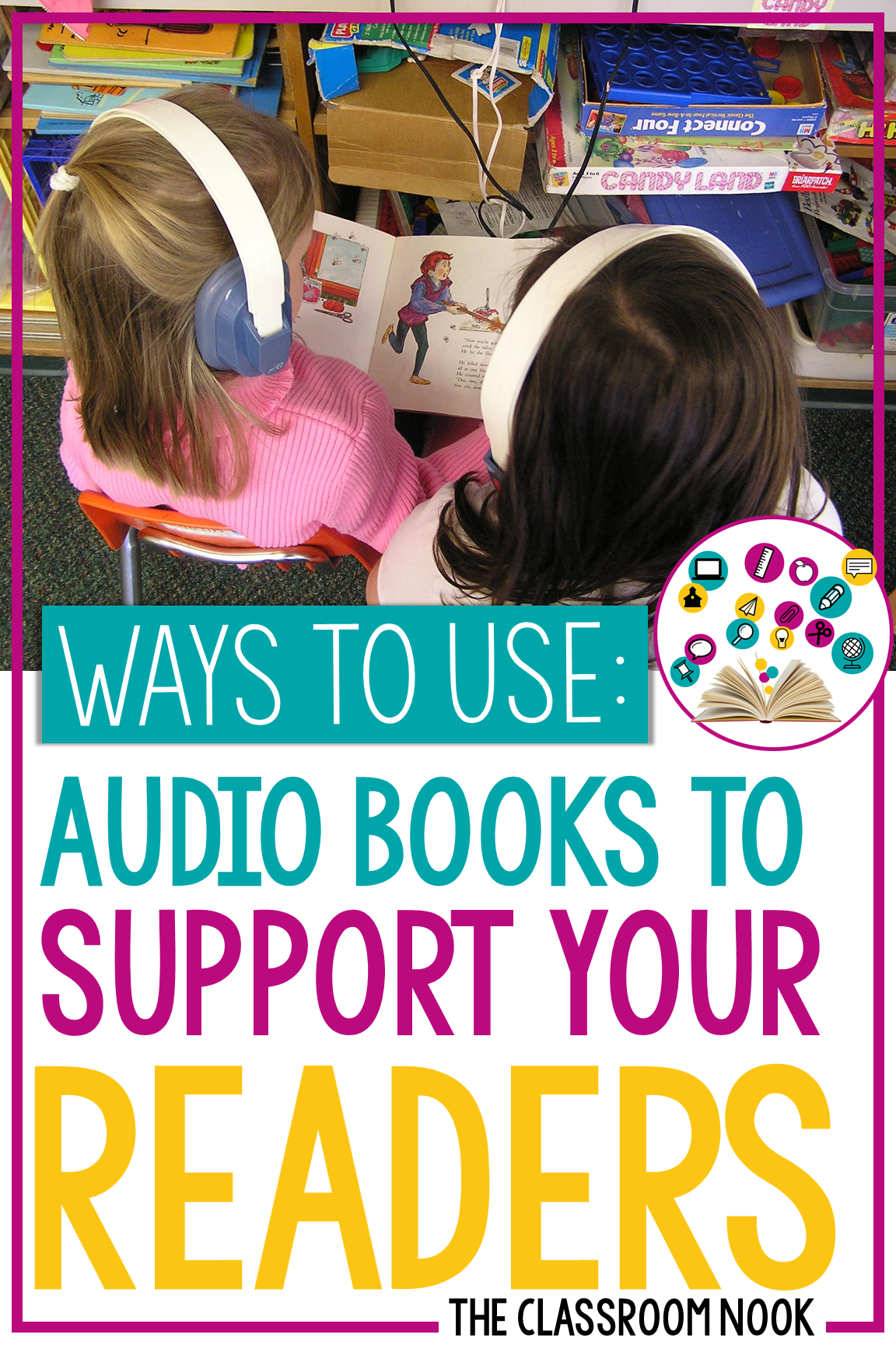Audio books have become a great tool to use in the classroom for offering differentiated instruction, variety, and fun! In this post I'm going to share with you some of my most favorite ways to use audio books in your own classroom and how making your own audio books is surprisingly easy! I'll walk you through a few simple steps to how you can customize your own audio book library!