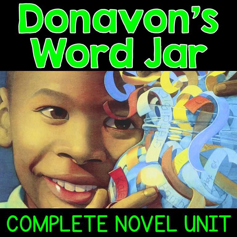 Donavon's Word Jar Novel Unit