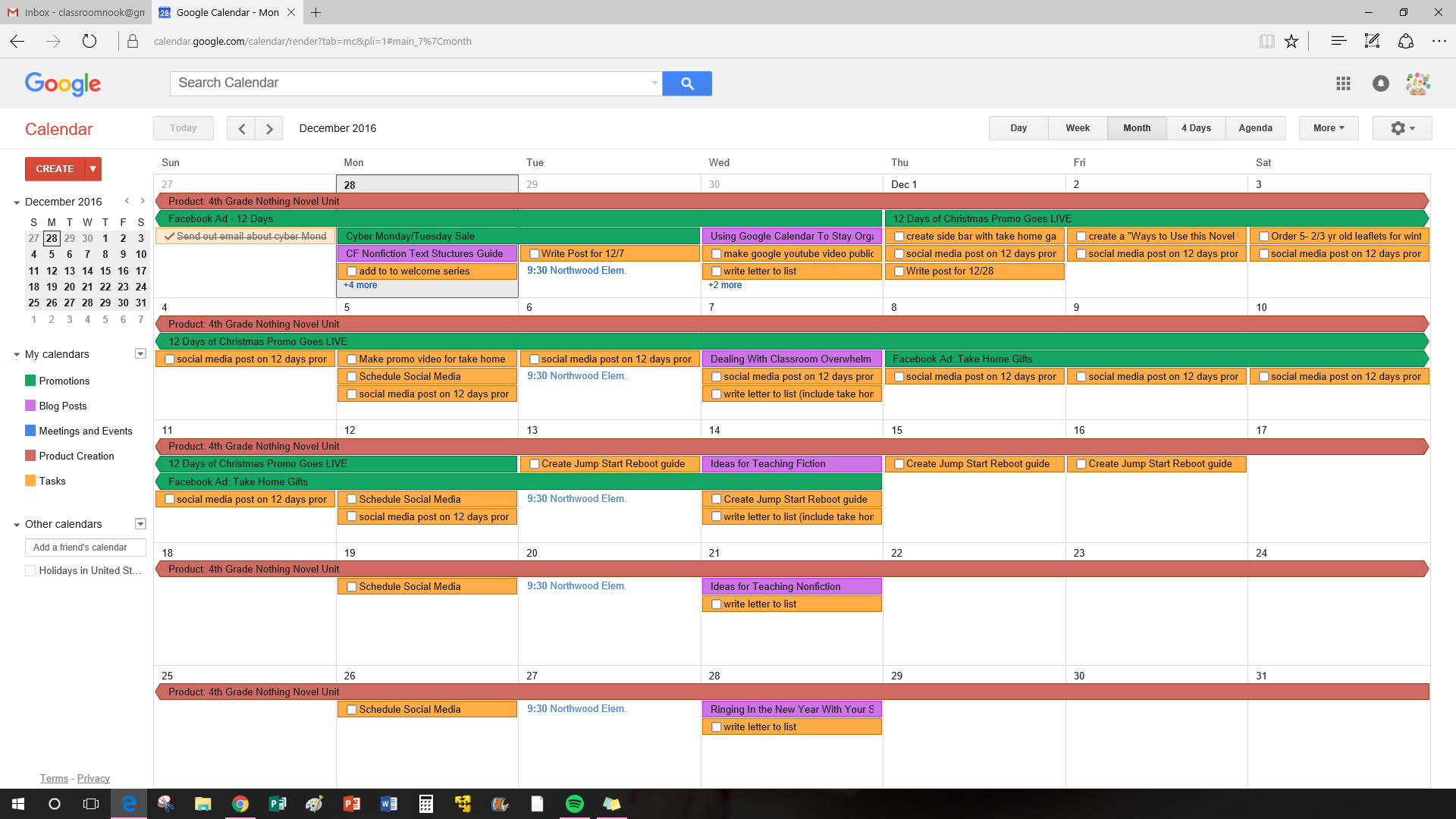 Use the google calendar to organizer teacher meetings, parent-teacher conferences, and even curriculum planning!