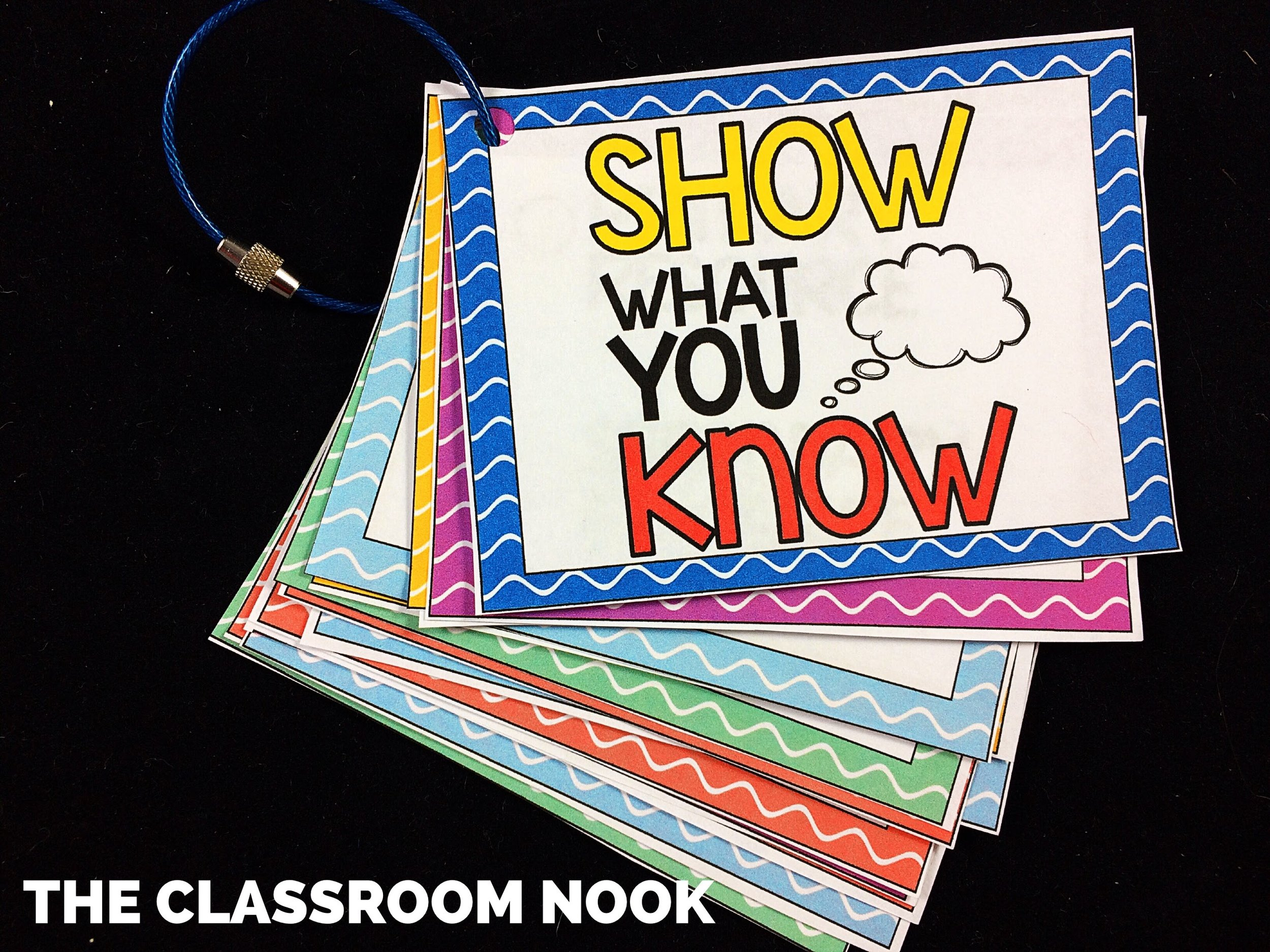 "Keep a class set of ""Show What You Know"" assessment cards to quickly pass out to students when you're ready to assess them on a topic or skill."