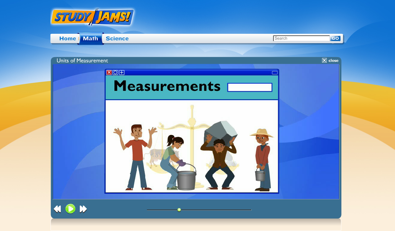 Study Jams has some great videos to help teach math concepts such as measurement to elementary studnets.