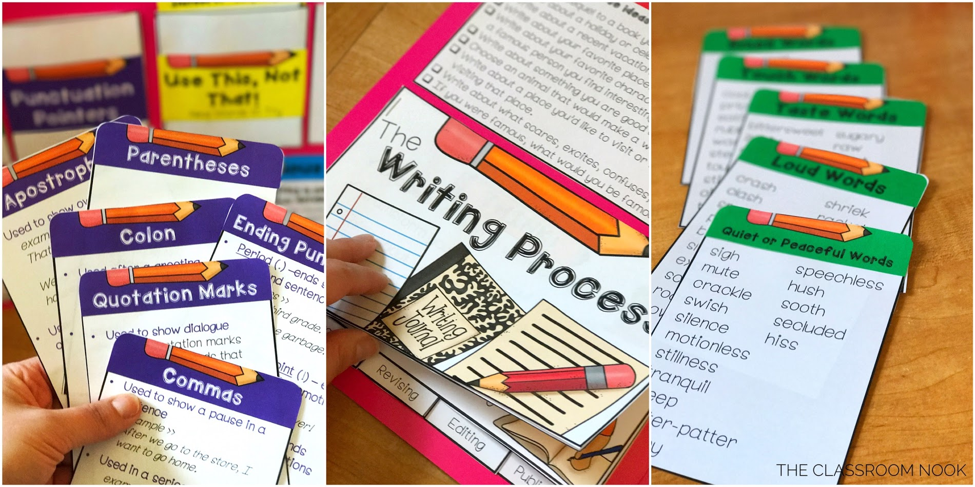 Place all of the writing resources inside the file folder toolkit once it is assembled