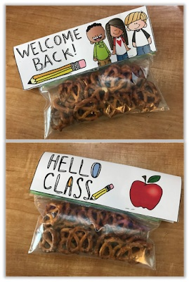 Welcome students back to school with a snack that they can munch on when they arrive