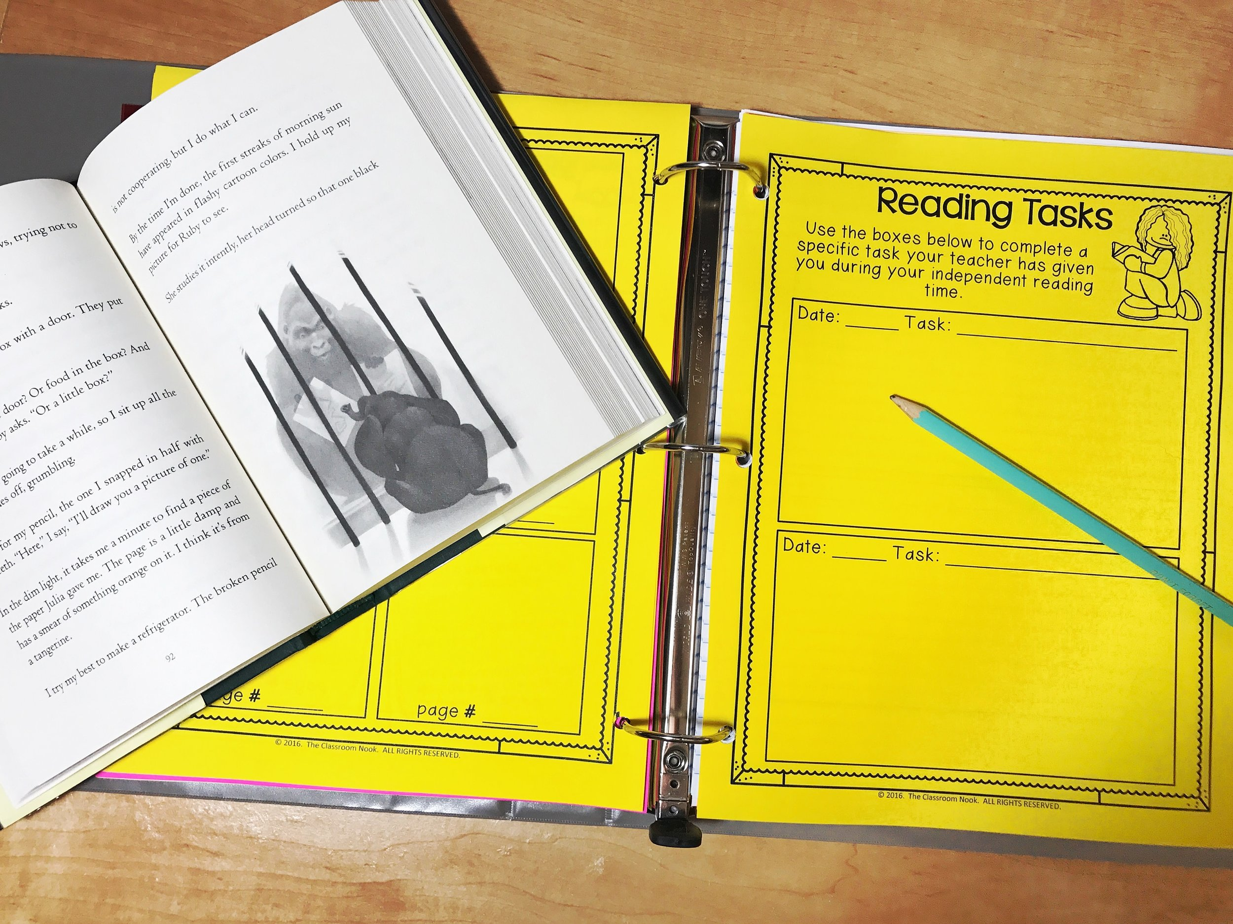Students can make reading responses directly in their readers notebook