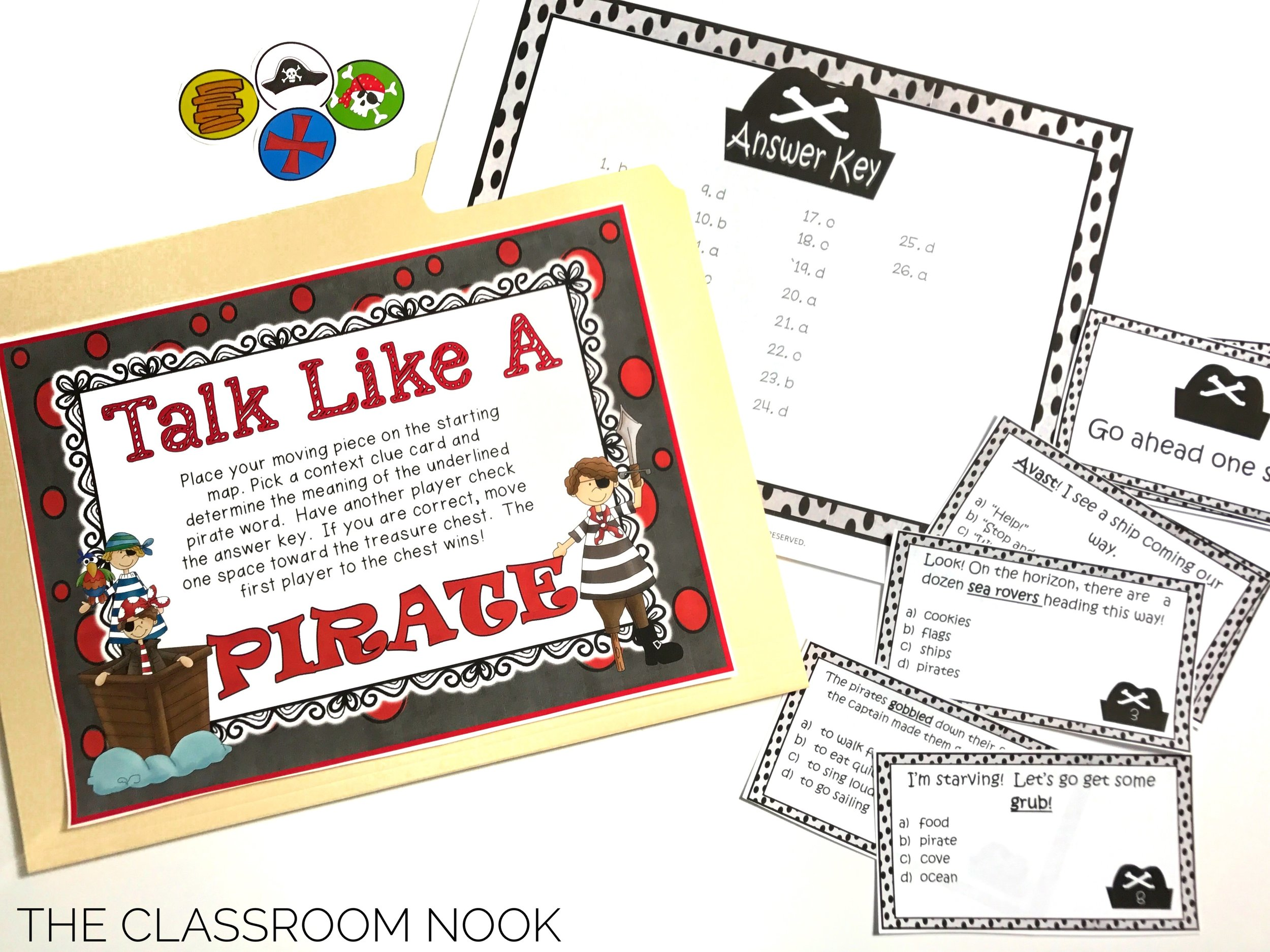 Students use context clues when reading pirate words to help them determine the meaning.