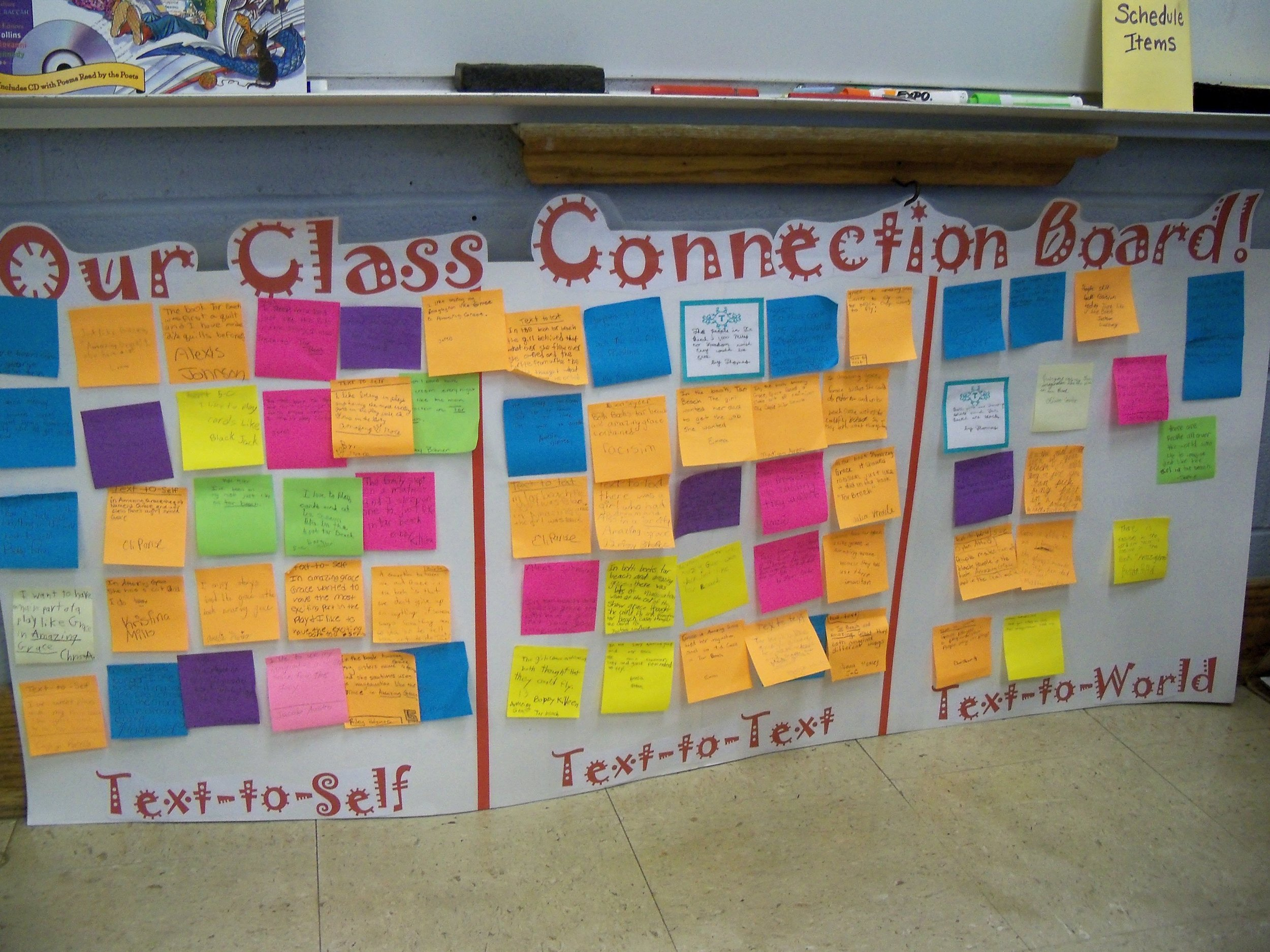 ANCHOR CHARTS TO HELP STUDENTS SHARE THEIR CONNECTIONS: