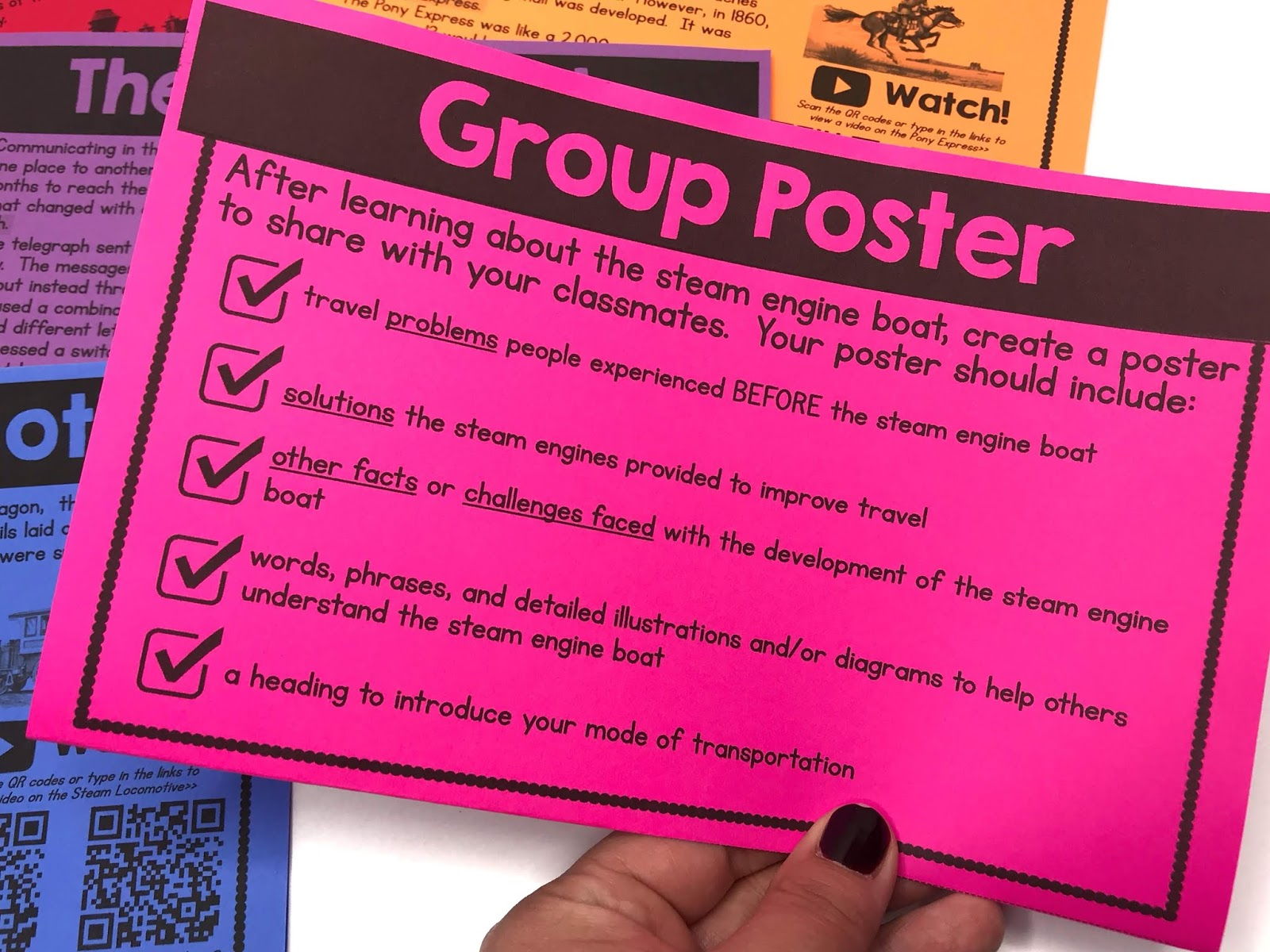 Students can present their learning by creating posters, a PowerPoint presentation, or another type of presentation to the class.