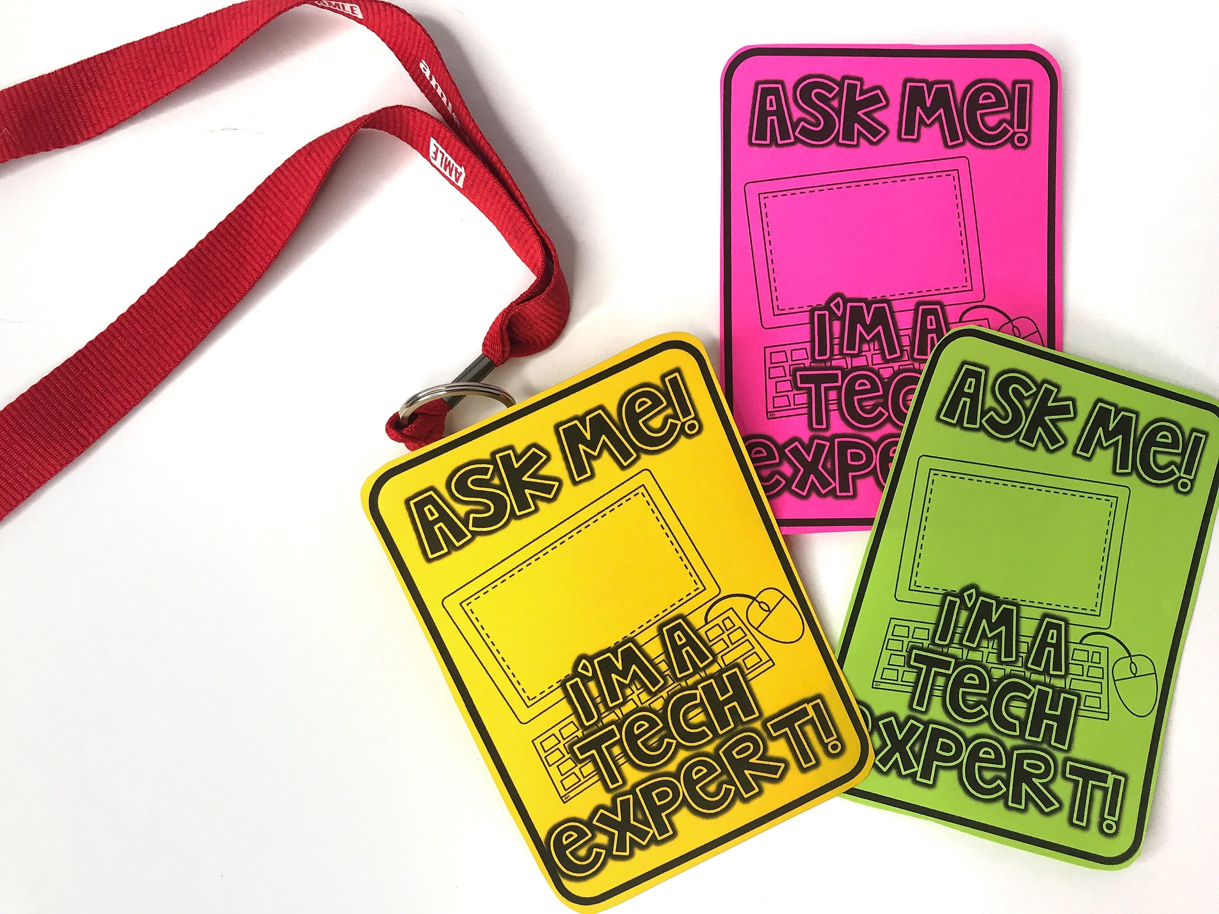 "Appoint several tech-savy students to be your ""Tech Experts"" and help answer some basic tech questions from their classmates. Give them a special badge so that other students can easily identify them"