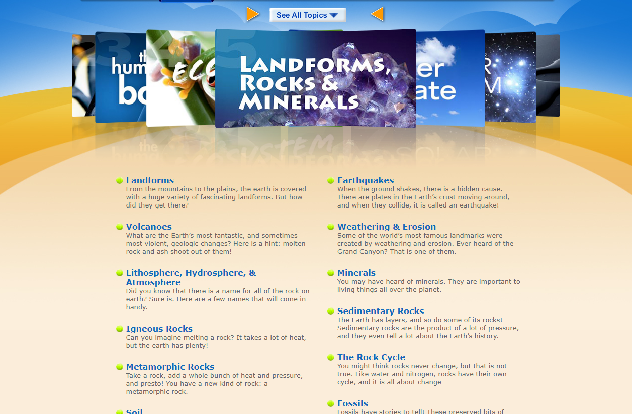 This site has TONS of math and science videos, including 10+ videos on rocks and minerals.