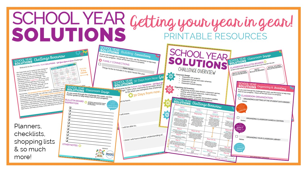 Challenge includes:  Printable resources  including planners, checklists, shopping lists, and more!