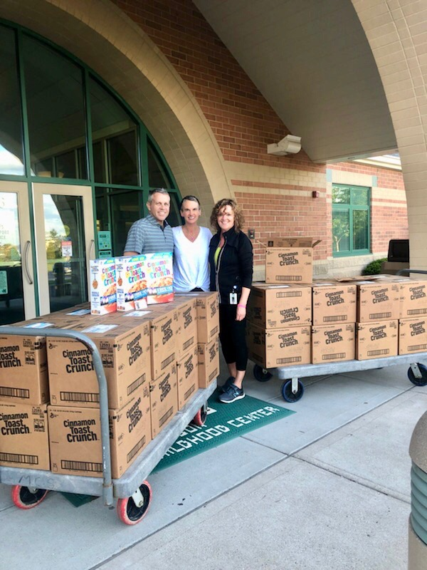 Thank you to General Mills Cereal - Graciously donating 180 boxes of Cinnamon Toast Crunch cereal to Mason Early Childhood Center for the weekend food program in honor of Shine Like Sable.