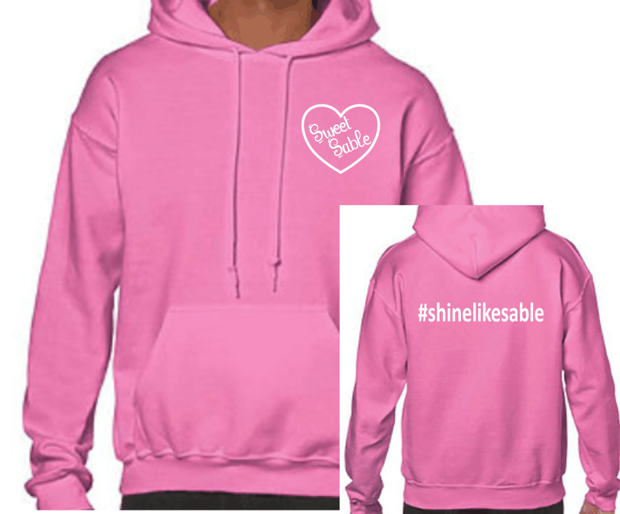 - Sweet Sable Hoodie8-ounce, 50/50 cotton/poly Double-needle stitching at waistband and cuffs Double-lined hood with dyed-to-match drawcord(not on youth) 1x1 rib knit cuffs and waistband with spandex Front pouch pocket *Azalea(pink) * Available in Youth Sizes: YM-XL and Adult Sizes: S-3XL$24.00