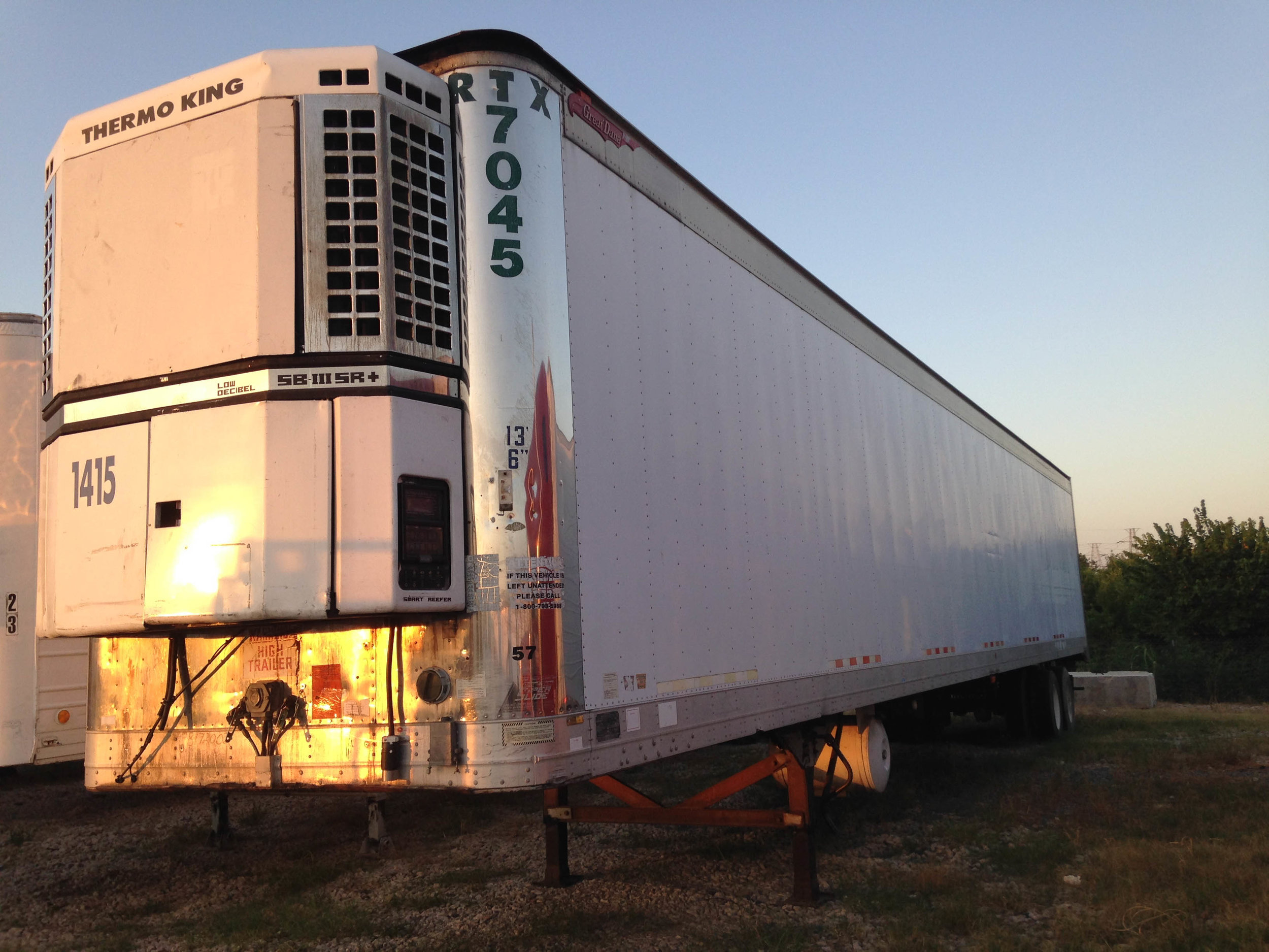 Electric Reefer Storage Trailer
