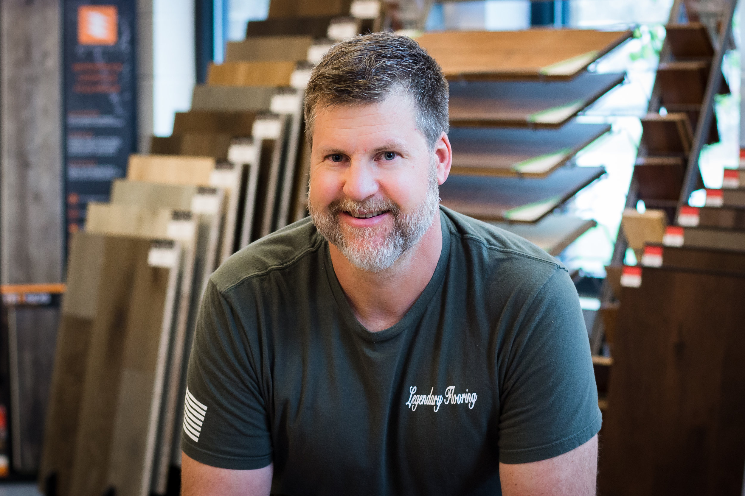 Jess Skarda - Jess Skarda is the owner and founder of Legendary Flooring. He grew up in St. Charles, IL and attended St. Patrick's Catholic School. As a teenager, he learned how to install carpeting with his father and has since added solid and enginereed hardwood to his areas of expertise. He describes himself as very particular and detail-oriented by nature, and always strives for complete customer satisfaction. In his spare time, Jess loves to spend time outdoors snowmobiling and camping with his wife and two children.