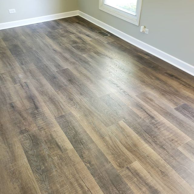 Installed this vinyl floor this week from Cali Bamboo, color Monterey.  #calivinylpro #calibamboo #monterey #lvp #vinylplankflooring #genevail #stcharlesil #homeimprovement #remodeling #waterproof