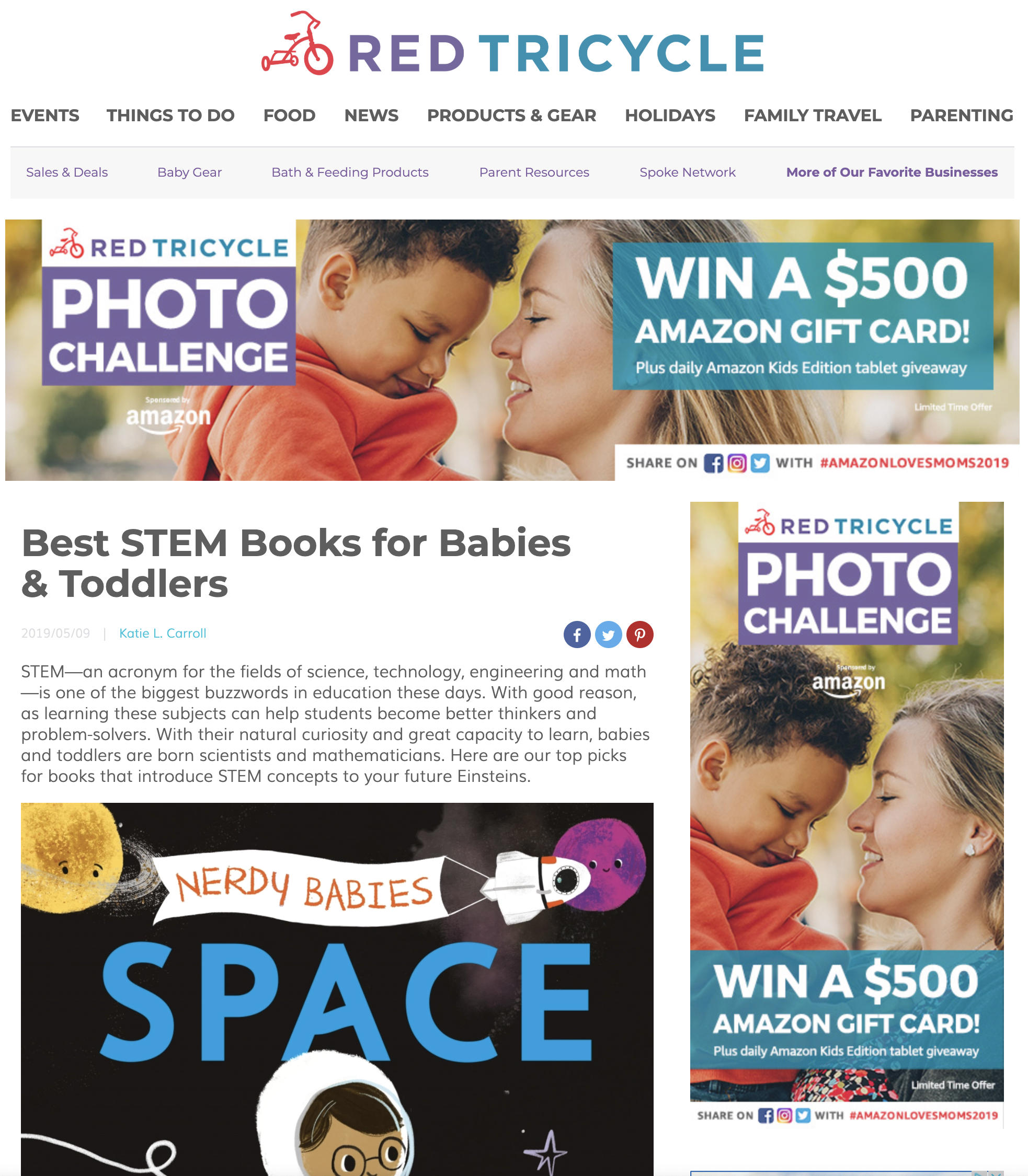 - via Red Tricycle — Best STEM Books for Babies and Toddlers!