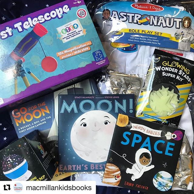 Look! #NerdyBabies in the mix with some fantastic 🚀 space books & goodies in this #giveaway  #Repost @macmillankidsbooks: ・・・ Next month marks 50 years since Neil Armstrong was the first man to step foot on the moon. Celebrate this momentous anniversary and invite your kids to embark on their own adventures with our Countdown to Liftoff sweeps! 🚀🌟🌝 One lucky winner will get a STELLAR prize pack, including an astronaut costume and play telescope! Plus some books that are OUT OF THIS WORLD!  HEAD OVER TO @macmillankidsbooks to ENTER for your chance to win by 6/14!