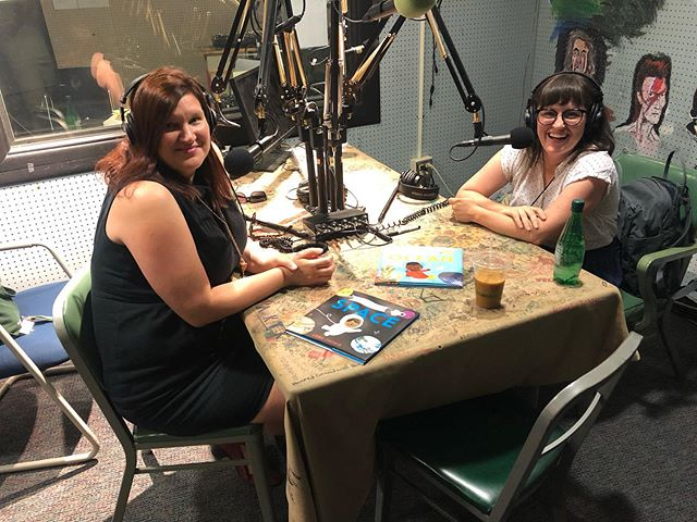 I had such a great time chatting with my friend @tlmamanda about books, art, writing with youth and so much more on her radio show/podcast @livingwriters Thanks so much for having me, Amanda! Link in bio if you want to hear it, friends. #livingwriters #nerdybabies #kidlit