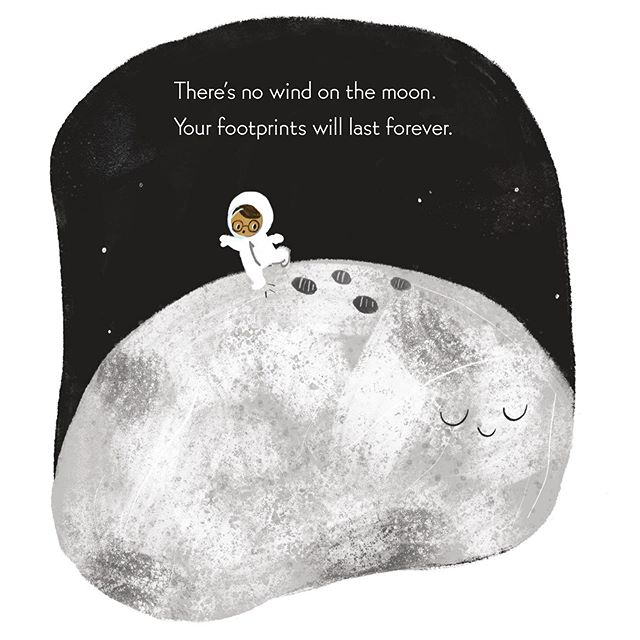Celebrating 50 years since the moon landing today! May we all be daydreaming of walking on the moon and making footprints that last forever. #nerdybabies #space #moonlanding #nasa • • (Bummer to not be able to celebrate with my pals at @schulerbooks_chapbookcafe today due to the power outage, but that will be rescheduled!)