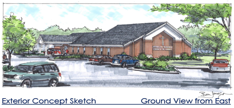 Veterans Parkway Church of Christ Rendering | Dow Smith Company | Smyrna, Tennessee