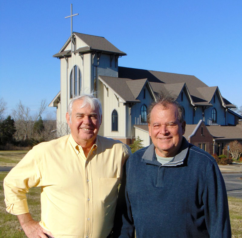 Epworth United Methodist Church Building Committee Co-Chairs Chuck Hawkins (left) and Mike Ketchum.
