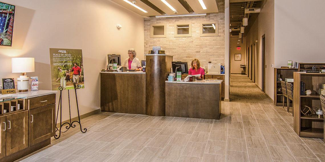 Franklin Synergy Bank Lobby | Dow Smith Company | Smyrna, Tennessee