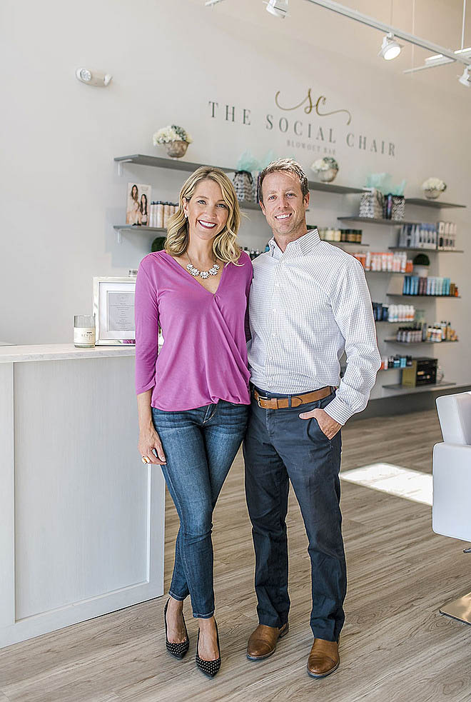The Social Chair Owners Jessica and Matt Shields | Dow Smith Company | Smyrna, Tennessee