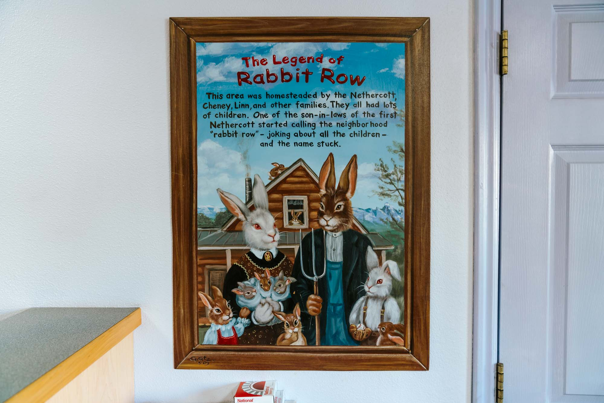 """The Legend of """"Rabbit Row""""  The area of Wilson / Jackson Hole, Wyoming where Rabbit Row Repair is located was settled by the Nethercott, Linn, Cheney and other families. As the neighborhood grew, it became known for the large families who homesteaded the area situated below Teton Pass, and along the Snake River.  A son in-law of the original Nethercott's enjoyed joking about the abundance of children, and humorously referred to it as """"Rabbit Row"""". The name stuck and was a common reference in Wilson's early history."""