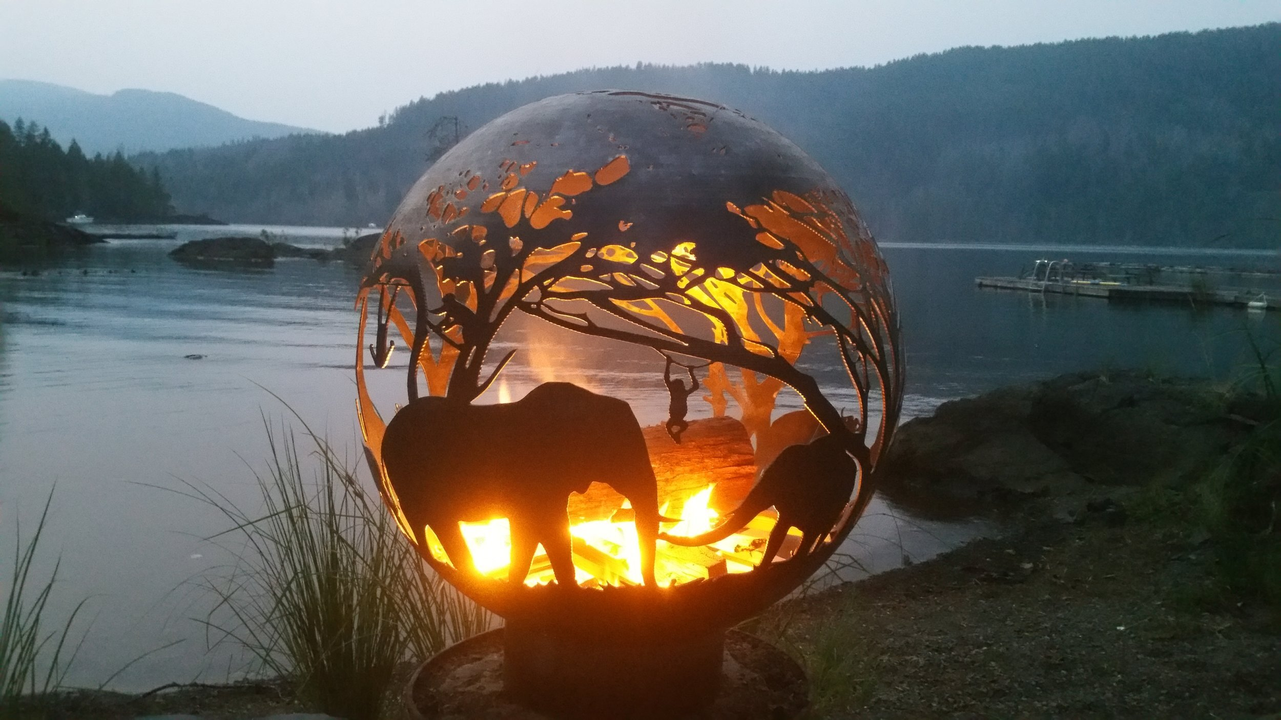 "Savannah Inspired Fire Pit (37"" Black Ceramic Coating)"