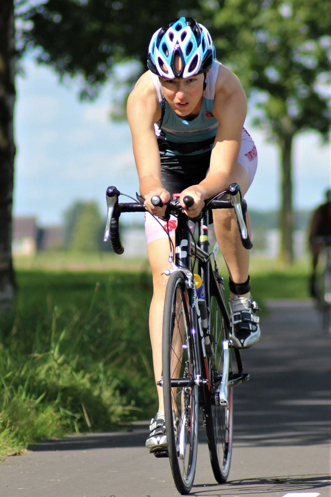 Hillie in action (triathlon Binnenmaas, 2017)