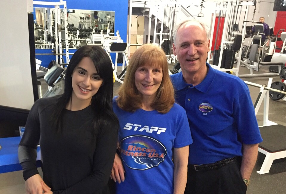 Rincon Fitness manager Victoria Rincon and owners Louisa and Kevin Twohy