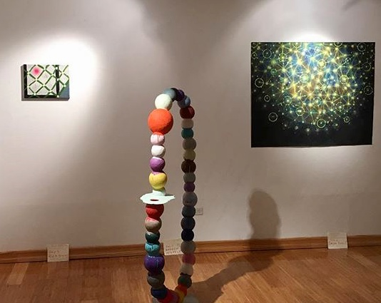 Painting by Rick Briggs, Sculpture by Andy Wilhelm, Painting by Jason Rohlf