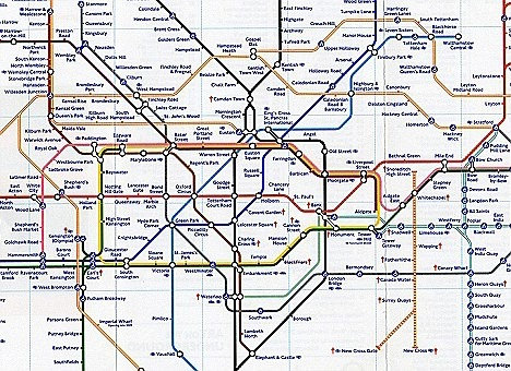 The proposed map of the London tube network