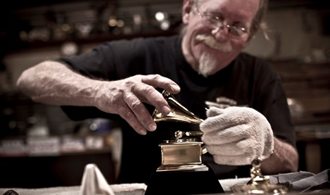 John Billings, mold maker of the only award still made in America, in his studio In Colorado. Image credit: Tadd Myers