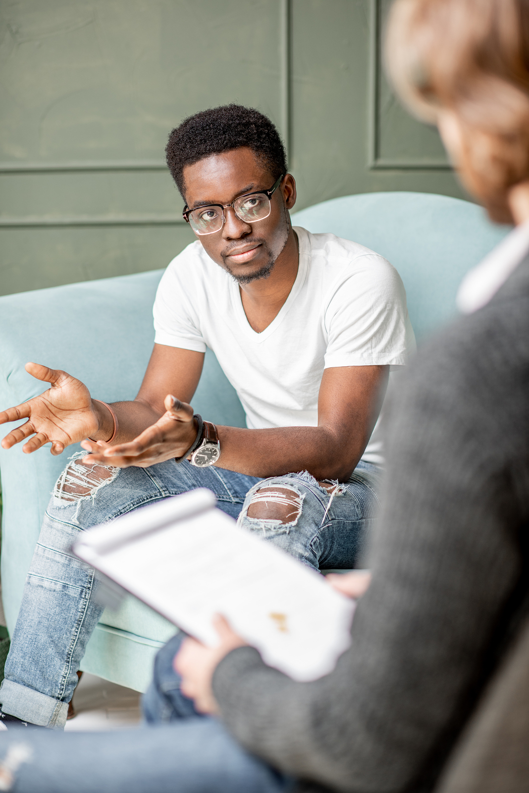 Man in counseling session | Therapy for Men | Broken Arrow, OK 74114