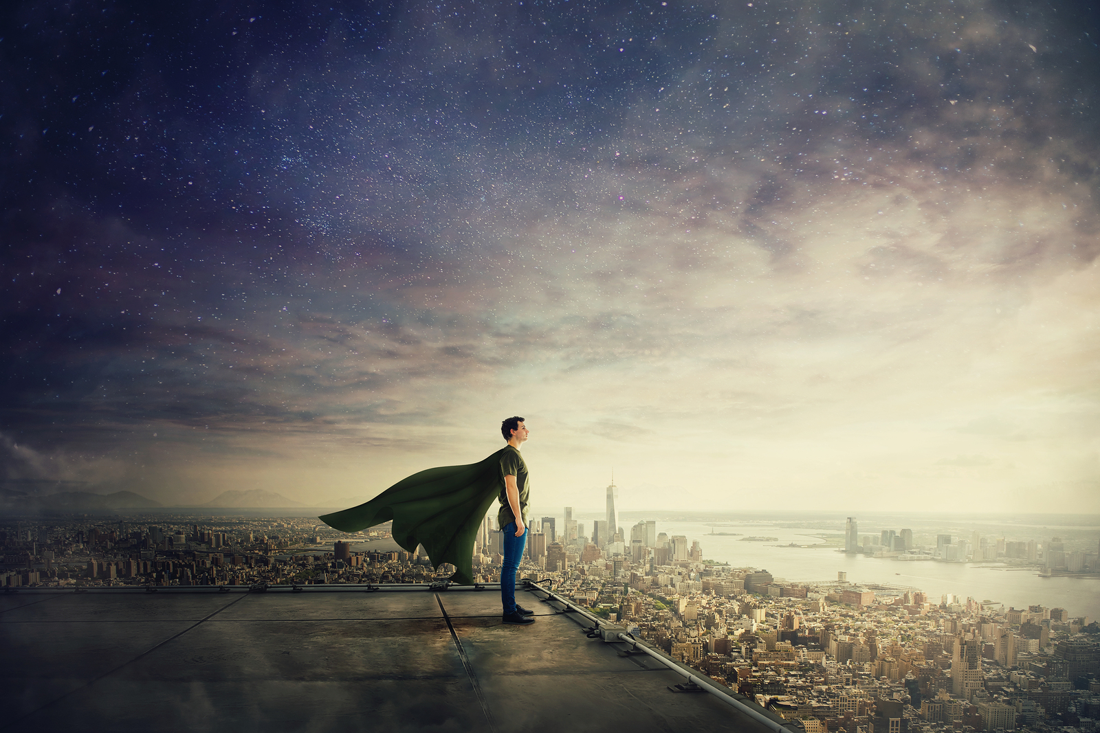 Image of a man in a cape | ACT Therapy & Counseling | Tulsa, OK 74114