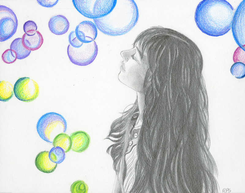 Graphite, color pencils on Strathmore paper - 2009