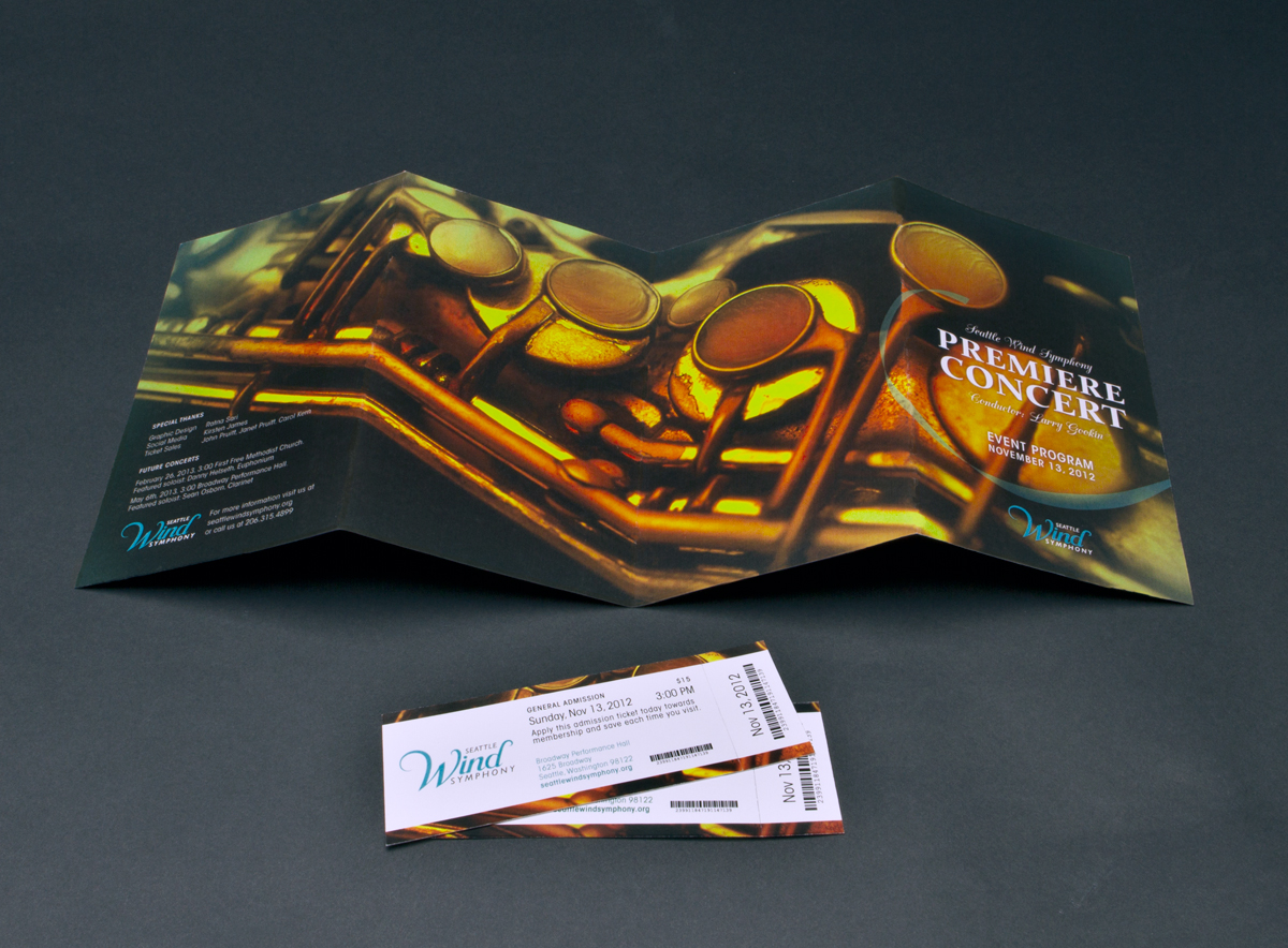 Event Program fold-out and Tickets