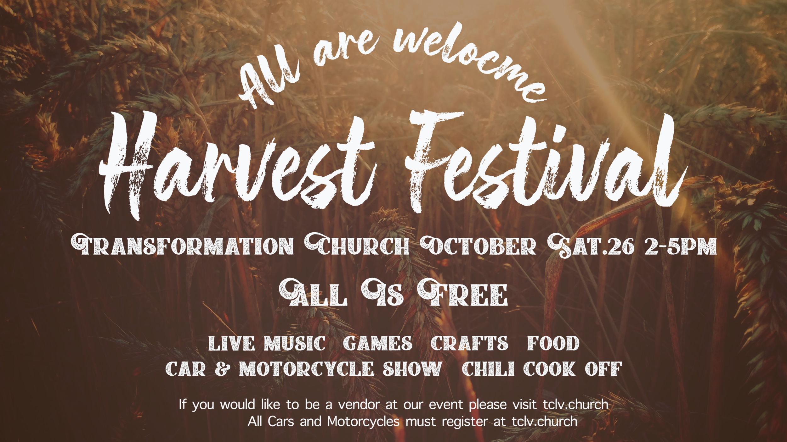 Harvest Festival - Looking for more info click the button!