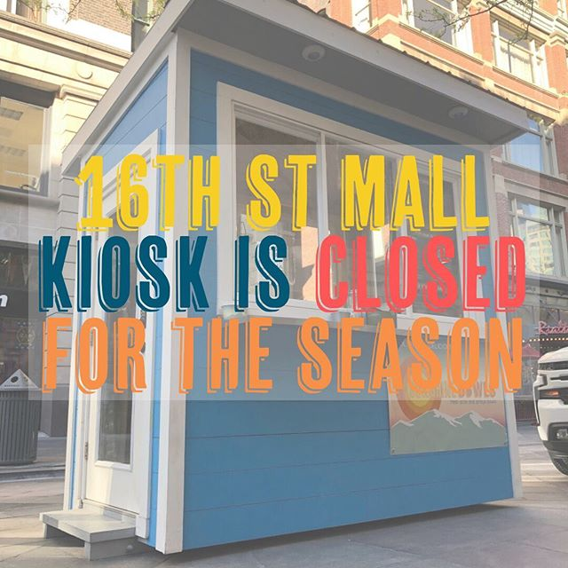 Some sad news, friends. Our kiosk on the 16th St. Mall will be closed for the remainder of the season/year. . . Thank you so much to everyone who came out and supported this new venture and everyone who gave us love and feedback. We'll be putting all of our energy into the mobile operation for the rest of this season, so stay tuned for schedules and new events and make sure to come out and say hey!! • • • • • #thankyou #onedoorcloses #sunshinebowls #seasonover #goodbye #16thstreetmall