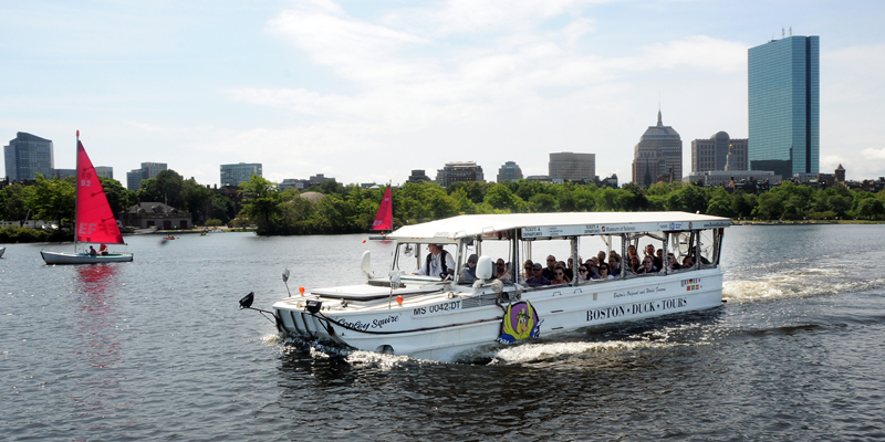 Boston Duck Tours - Located right by the West End Apartments, the famous Boston Duck Tours go on land and sea to give you a full tour of the history and culture of Boston. Visit their Website at https://www.bostonducktours.com/