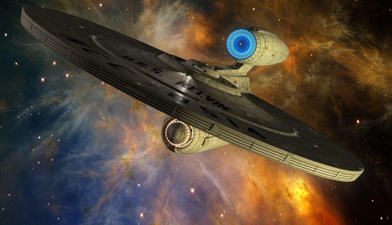 A warp drive Starship from the  Star Trek  Universe (Paramount Studios)