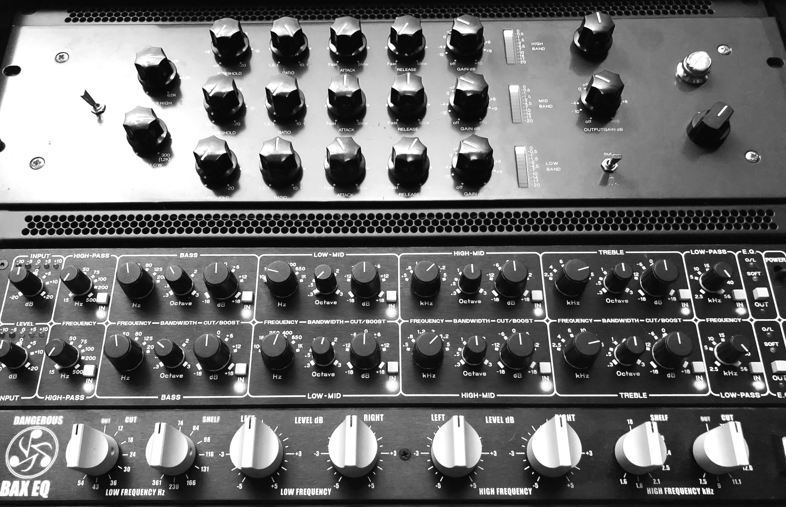 Trakworx Mastering Studio Tube-Tech SMC2b, Drawmer 1961 Tube EQ, Dangerous Bax EQ