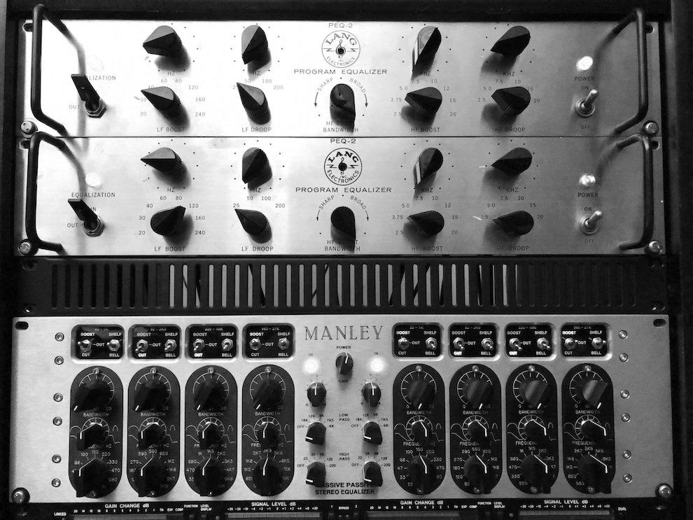 Trakworx Mastering Studio Lang PEQ-2, Manley Massive Passive