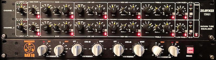 Trakworx Online Mastering Studio Drawmer 1961 Tube Equalizer and Dangerous BAX EQ.jpg